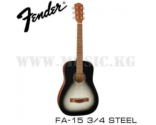Акустическая гитара Fender Fa-15 Steel 3/4 Moonlight Burst