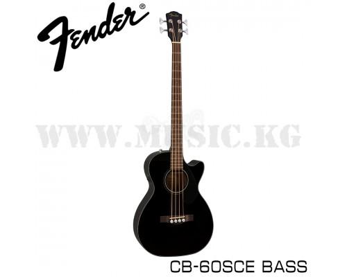 Электроакустическая бас-гитара Fender CB-60SCE Bass Black