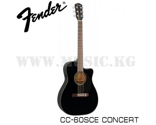 Электроакустическая гитара Fender CC-60SCE Concert Black