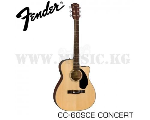 Электроакустическая гитара Fender CC-60SCE Concert Natural