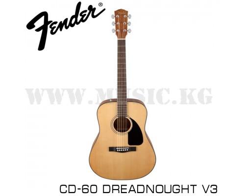 Акустическая гитара Fender CD-60 Dreadnought V3 Natural
