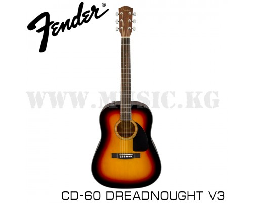 Акустическая гитара Fender CD-60 Dreadnought V3 Sunburst