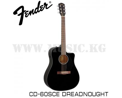 Электроакустическая гитара FENDER CD-60SCE Dreadnought Black