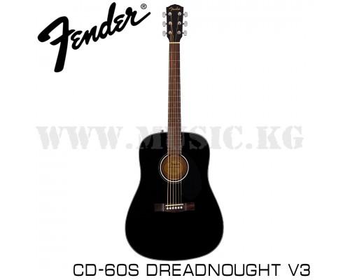 Акустическая гитара Fender CD-60S Dreadnought V3 Black