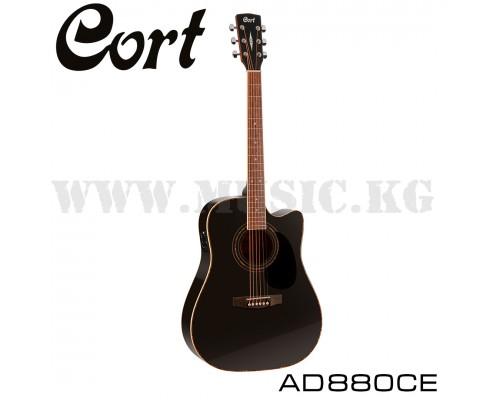 Электроакустическая гитара CortAD880CE BK