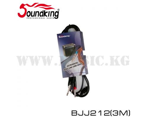Сигнальный кабель SoundKing 2x Jack - 3.5 Stereo Jack (3м)