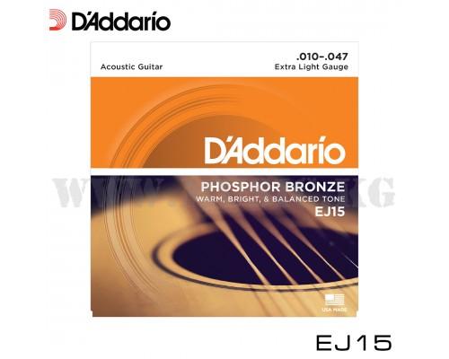 Струны для акустической гитары D'Addario EJ15 PHOSPHOR BRONZE