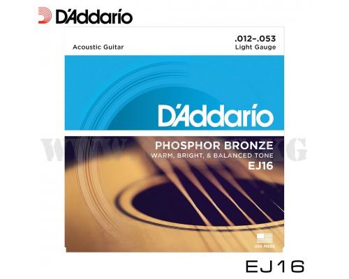 Струны для акустической гитары D'Addario EJ16 PHOSPHOR BRONZE