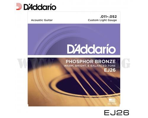 Струны для акустической гитары D'Addario EJ26 PHOSPHOR BRONZE