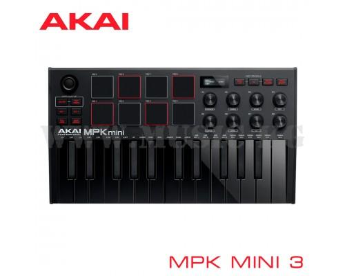 Midi-клавиатура Akai MPK Mini 3 Black