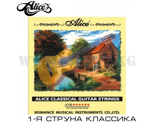 Первая струна для классической гитары