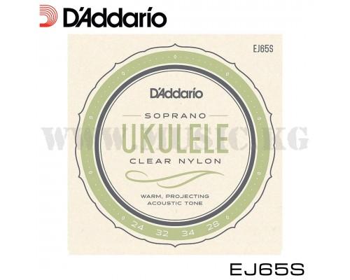 Струны для укулеле сопрано D'Addario EJ65S