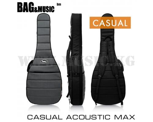 Чехол для акустической гитары Bag&Music Casual Acoustic Max Grey