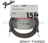 Инструментальный кабель Fender Professional Series Gray Tweed