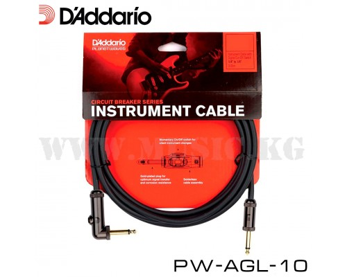 Инструментальный кабель D'Addario Planet Waves PW-AGL-10 (3м)