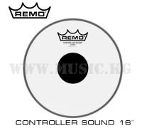 "Пластик для тома Remo 16"" Controlled Sound Clear Black Dot"