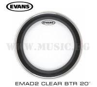 "Пластик для бас-барабана Evans 20"" EMAD2 Clear Batter"