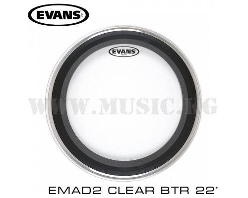"Пластик для бас-барабана Evans 22"" EMAD2 Clear Batter"