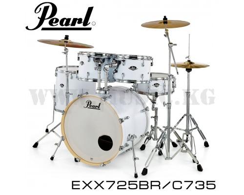 Ударная установка Pearl EXX725 BR/C735 Export Drum Kit (SATIN WHITE) + Комплект тарелок Sabian SBR