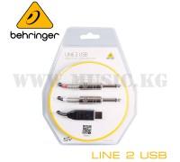 Портативный аудио интерфейс Behringer LINE 2 USB