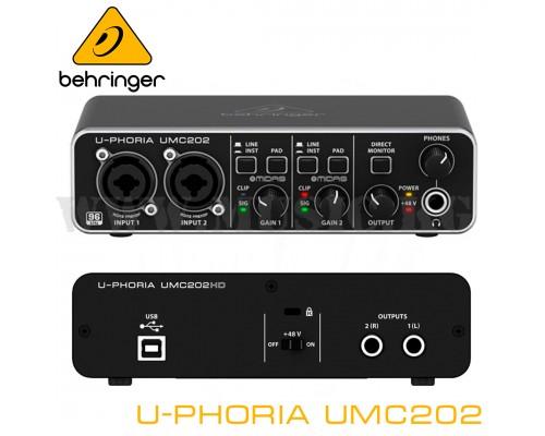 Звуковая карта Behringer U-Phoria UMC202HD