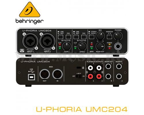 Звуковая карта Behringer U-Phoria UMC204HD