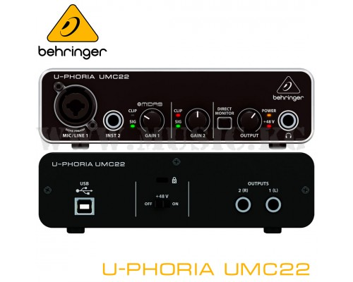 Звуковая карта Behringer U-Phoria UMC22