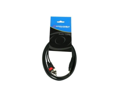 Сигнальный кабель Accu Cable 3,5 Jack Stereo - 2x RCA (1.5м)