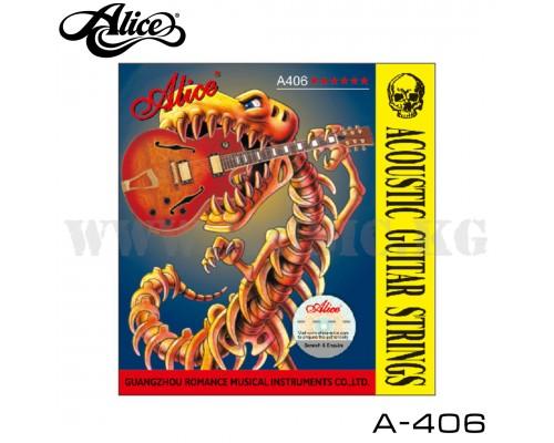 Струны для акустической гитары Alice A-406