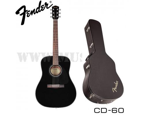 Акустическая гитара Fender CD-60 Black с кофром